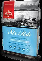 Сухой корм Orijen 6 Fish Dog 11.4кг + Поводок-контроллер в подарок