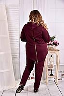 Костюм спортивный с капюшоном для крупных женщин с 42 по 74 размер, фото 1