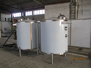 Емкость разгрузочная для воды  2 м3, AISI 304