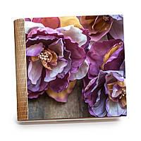 """Шкатулка-книга на магните с 9 отделениями XL """"Нежные сиреневые цветы"""""""