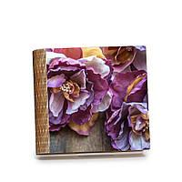 """Шкатулка-книга на магните с 9 отделениями """"Нежные сиреневые цветы"""""""
