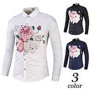Рубашка с цветочным орнаментом