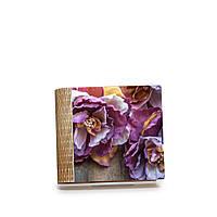 """Шкатулка-книга на магните с 4 отделениями """"Нежные сиреневые цветы"""""""
