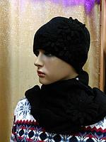 Zlata женская шапка с шарфом Kamea Польша, цвет черный, фото 1
