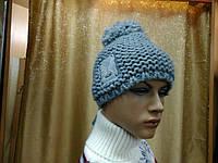 Petra, ТМ Kamea Польша,молодежная женская шапка с бубоном, шерстяная, цвет серый, фото 1