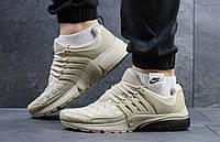 Мужские кроссовки повседневные легкие текстильные демисезонные кросовки для бега бежевого цвета
