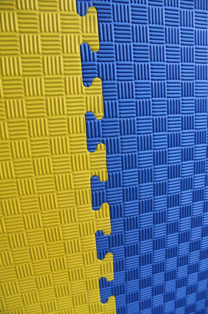 "Мат-татами Ланор ""ласточкин хвост"" 30мм желто-синий"
