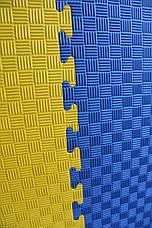"Мат-татами Ланор ""ласточкин хвост"" 120кг м3 30мм желто-синий Т2, фото 2"