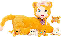 Мягкая игрушка Беременная тигрица с детками Just Play Surprise Plush, из США