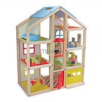 Игровой набор Melissa&Doug Кукольный домик с подъемником и мебелью (MD2462)