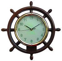 """Часы настенные RL """"Штурвал"""" с фосфорной подсветкой w006"""