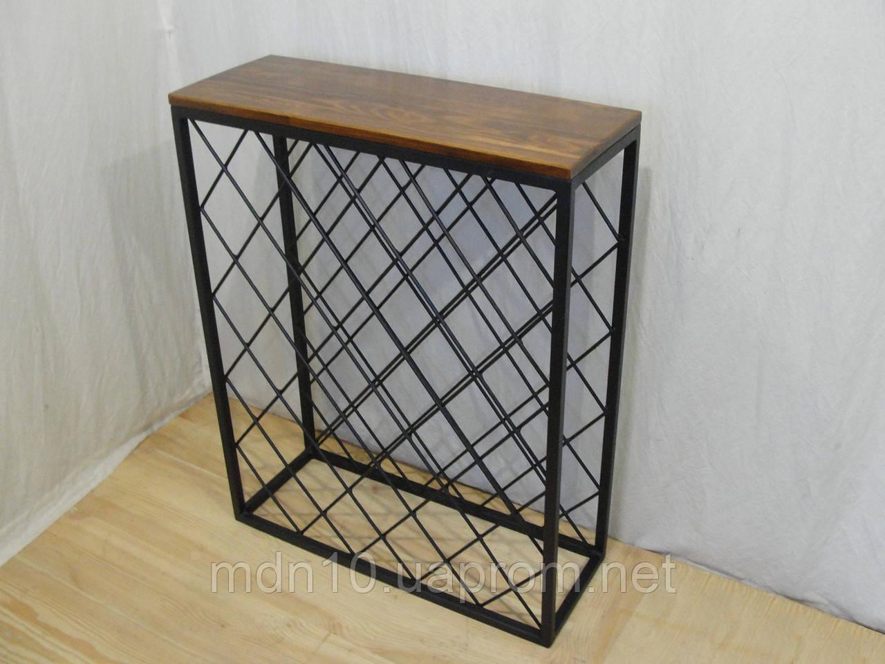 Стол-стеллаж для хранения вина - 132-40