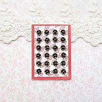 Мини кнопки для кукольной одежды и сумок 6 мм, бронза - 4 шт