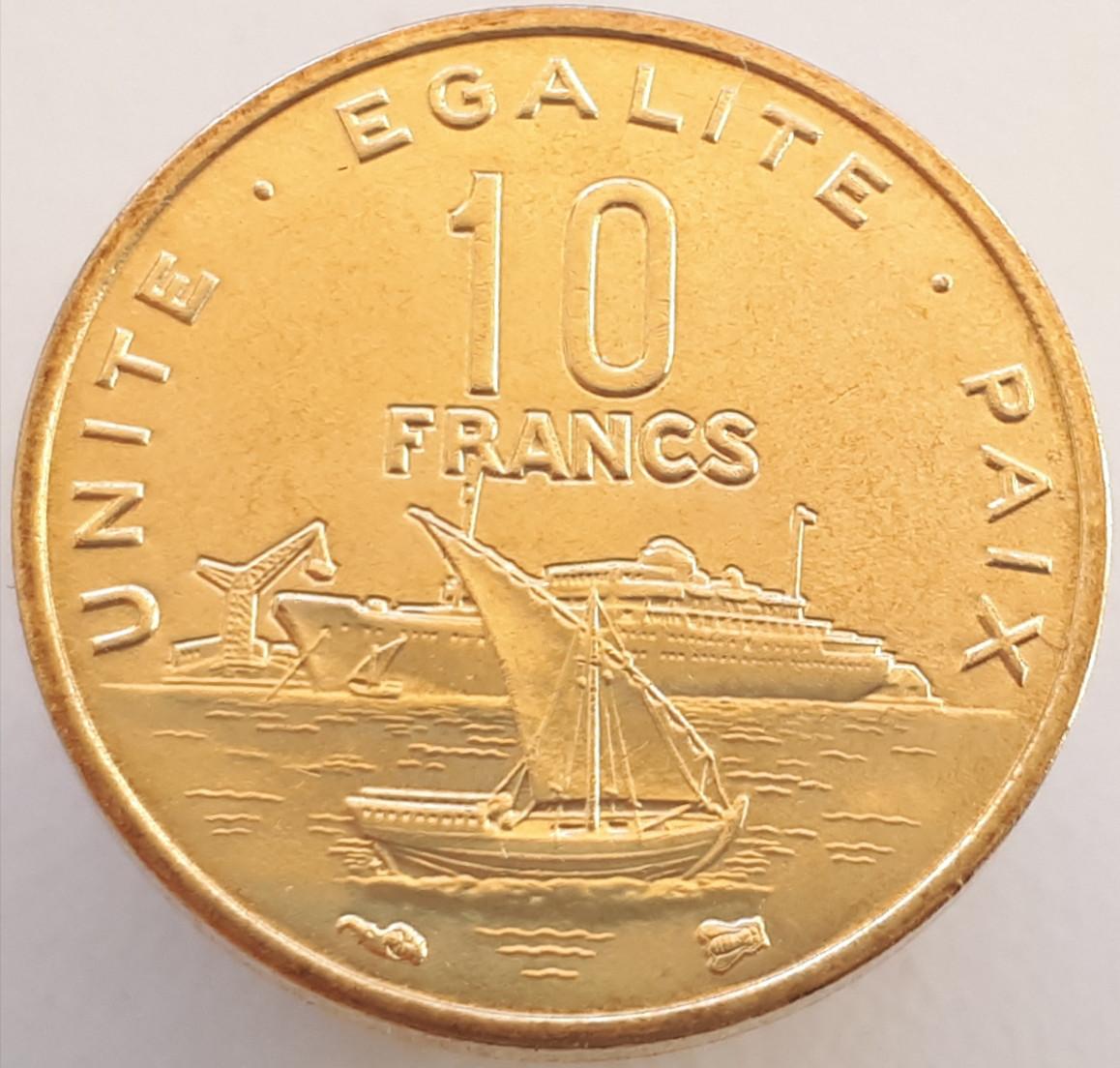 Джибуті 10 франків 1996