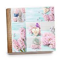 """Шкатулка-книга на магните с 9 отделениями XL """"Коллаж с розовыми гиацинтами"""""""