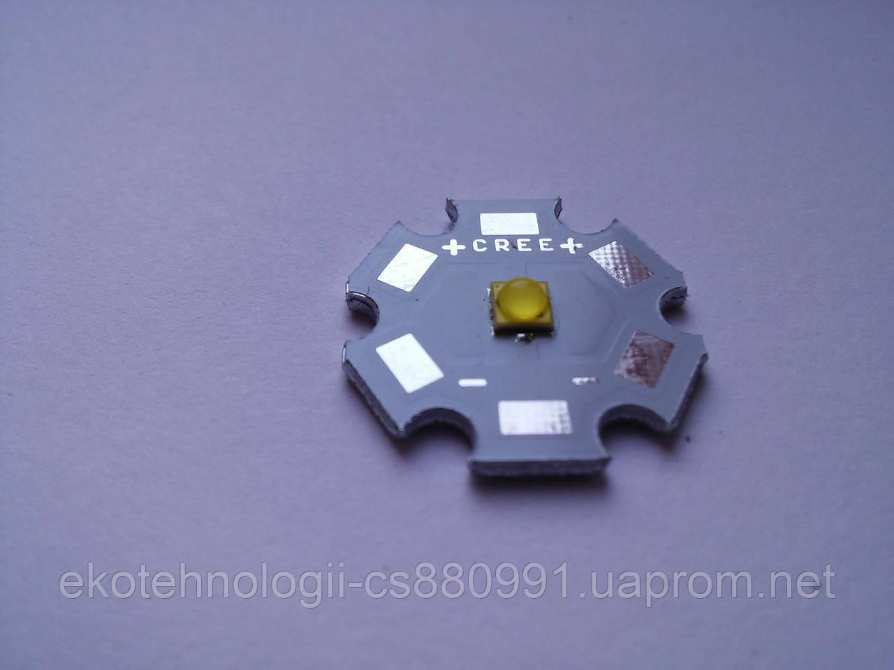 Мощный светодиод 3W 35х35 cверхяркий теплый белый 260-280LM