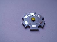 Мощный светодиод 3W 35х35 cверхяркий теплый белый 260-280LM, фото 1