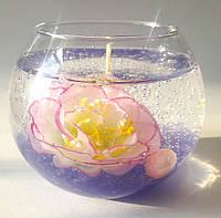 Набор для гелевой свечи с розовыи пионом