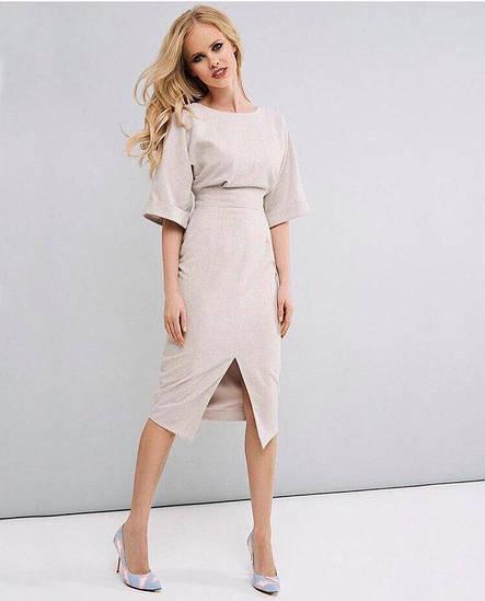Женское платье длины миди