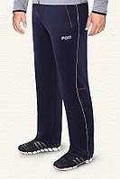 Мужские брюки больших размеров темно синий-красный (54-58)