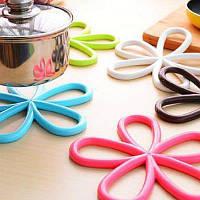 Подставка для посуды с теплоизоляцией в форме цветка Случайный Цвет