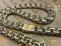 Массивная серебряная цепь 925 пробы. 200 грамм