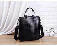 Мужская кожаная сумка Bottaga Veneta (91698) leather De Lux