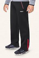 Мужские брюки больших размеров черный-красный (54-58)