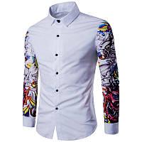 Рубашка с яркими рукавами 2 цвета, фото 1