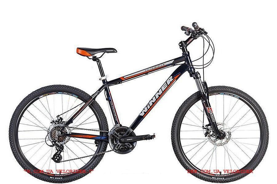 """Горный велосипед WINNER GLADIATOR 26"""" 21""""  Черный/Оранжевый"""