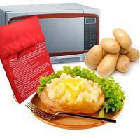 Мешок для запекания картофеля в микроволновой печи Красный
