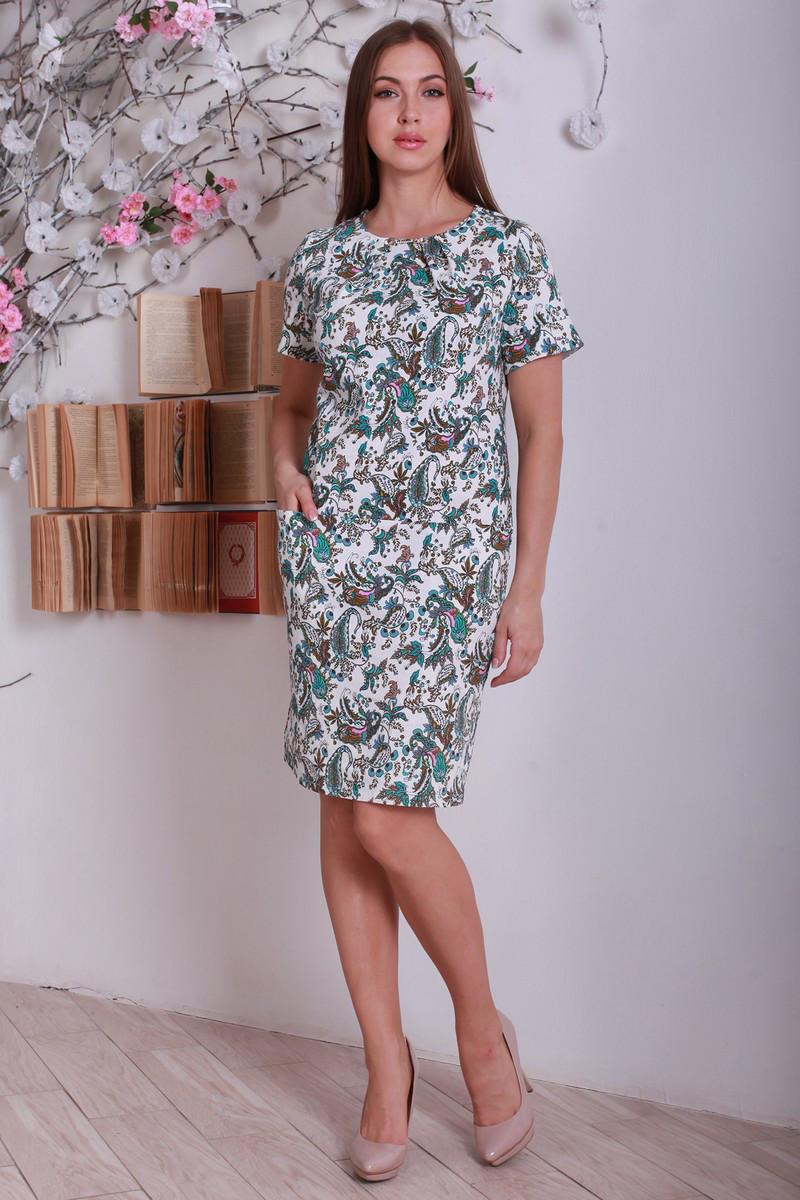 Стильное повседневное офисное платье с цветочным принтом, большой размер