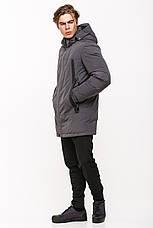 Зимняя мужская куртка в стиле кэжуал SOT17-M1189 серая (#805), фото 3