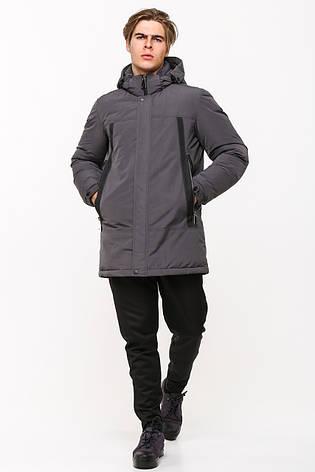 Зимняя мужская куртка в стиле кэжуал SOT17-M1189 серая (#805), фото 2