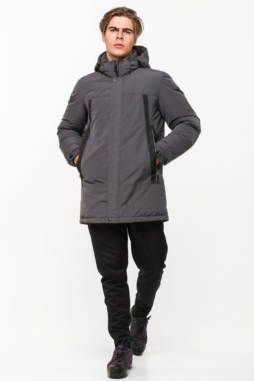 Зимняя мужская куртка в стиле кэжуал SOT17-M1189 серая (#805)
