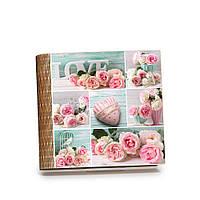 """Шкатулка-книга на магните с 9 отделениями """"Коллаж с розами"""""""