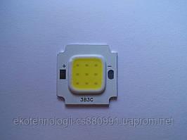 Светодиод 10W,  800 LM, 6000-6500К холодный белый
