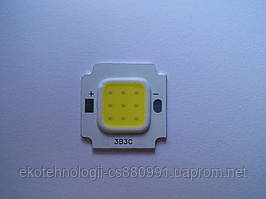 Светодиод 10W,  800LM, 3000-3500К теплый белый
