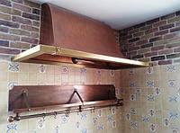 Вытяжка кухонная под старину из меди