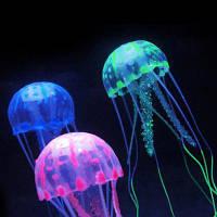 5 см искусственный силиконовые яркий Медузы для аквариума украшение Синий