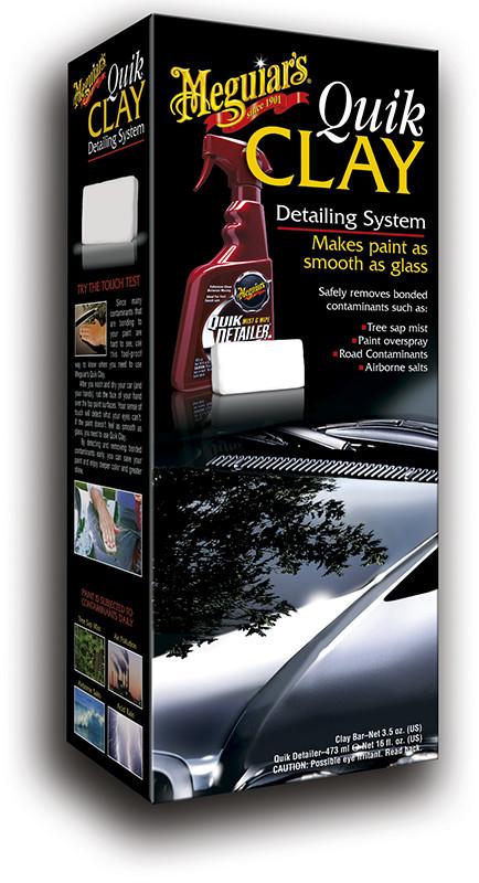 Стартовый набор для чистки кузова - Meguiar's Quik Clay Detailing System Starter Kit (G1116EU)