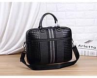 Мужская кожаная сумка Bottaga Veneta (92168-3) leather De Lux