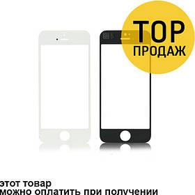 Стекло Iphone 4/4s, белое, с тачскрином, AAA