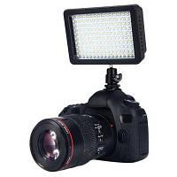 W160 Светодиодная диммируемая вспышка с креплением и цветофильтром для цифровых камер Canon Nikon Pentax Чёрный
