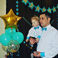 Рубашка с бабочкой на мальчика с длинным рукавом