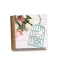 """Шкатулка-книга на магните с 9 отделениями """"Птица в клетке"""""""