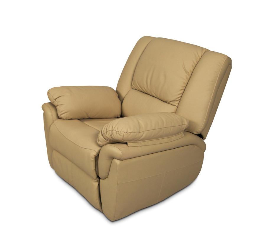 """Кожаное кресло с реклайнером """"ALABAMA"""" (98 см)"""