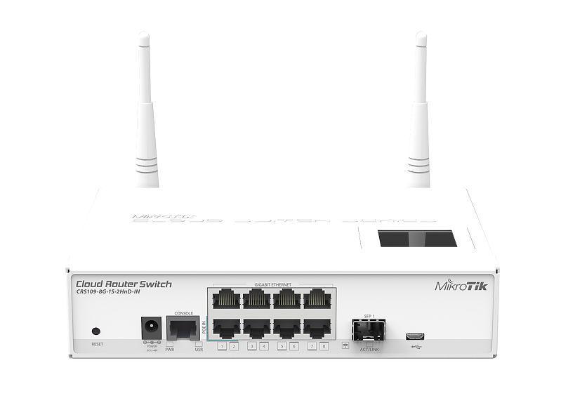 Комутатор Mikrotik CRS109-8G-1S-2HnD-IN