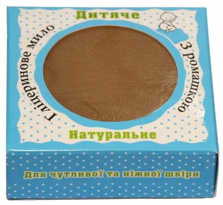 Детское. Натуральное глицериновое мыло с ромашкой, 100 г
