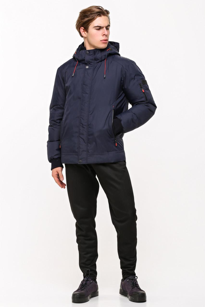 Качественная мужская куртка SOOYT SOT17-M1295 темно-синяя (#404)